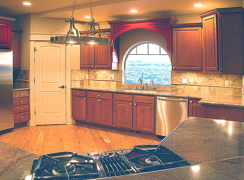 Custom kitchen, 16X14 size, features top quality throughout...